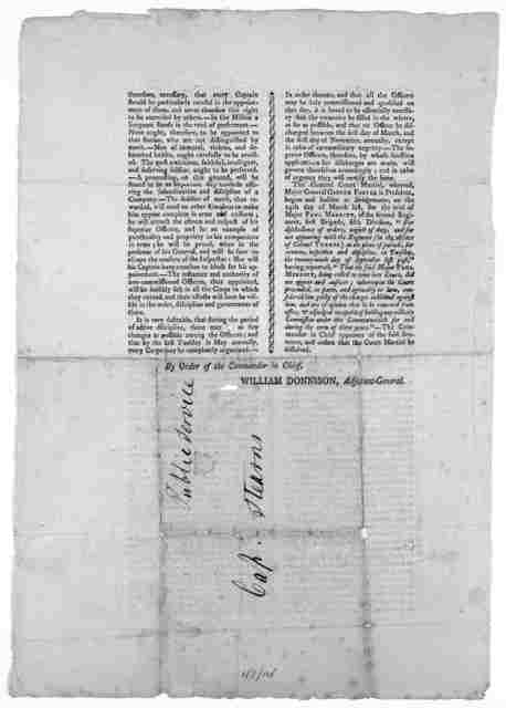 Commonwealth of Massachusetts. General orders. Head-quarters. Northampton, 20th, April, 1802. By order of the Commander in Chief. William Donnison, Adjutant-General.