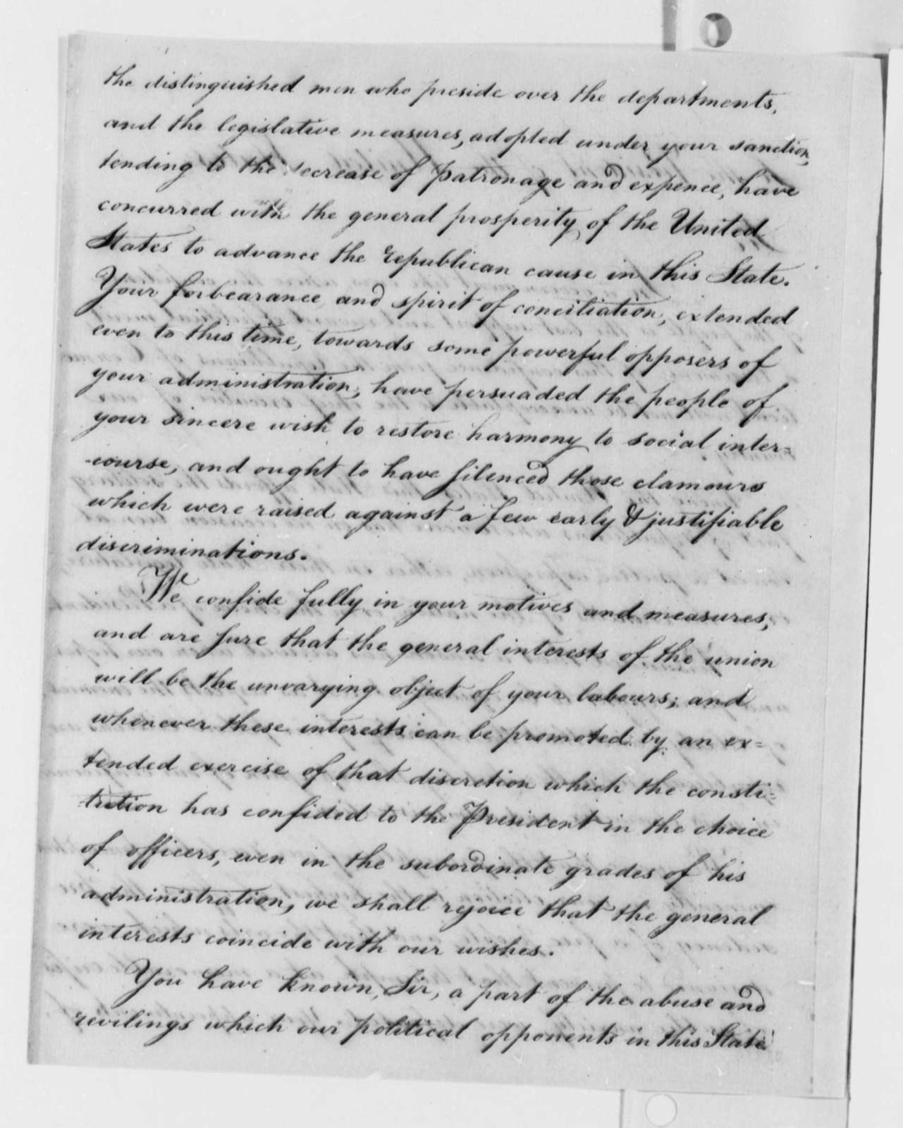 Connecticut Republicans to Thomas Jefferson, October 27, 1802, Address