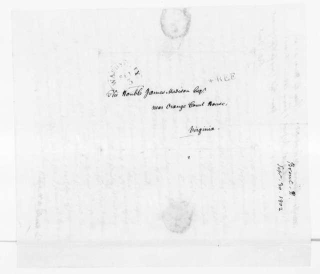Daniel Brent to James Madison, September 3, 1802.