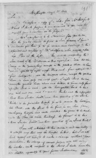 Daniel C. Brent to Thomas Jefferson, August 3, 1802