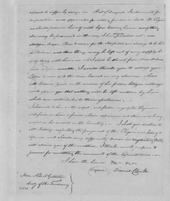 Daniel Clark, Jr. to Albert Gallatin, August 16, 1802