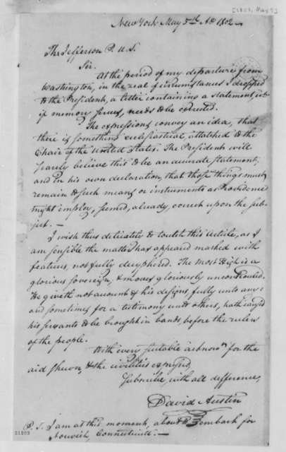 David Austin to Thomas Jefferson, May 5, 1802