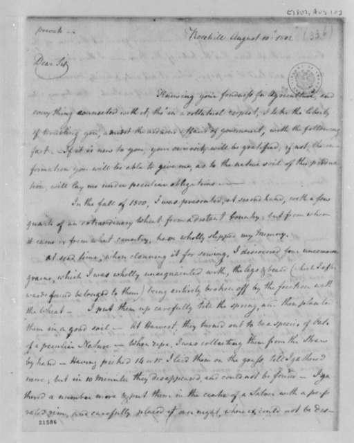 Elias Boudinot to Thomas Jefferson, August 10, 1802