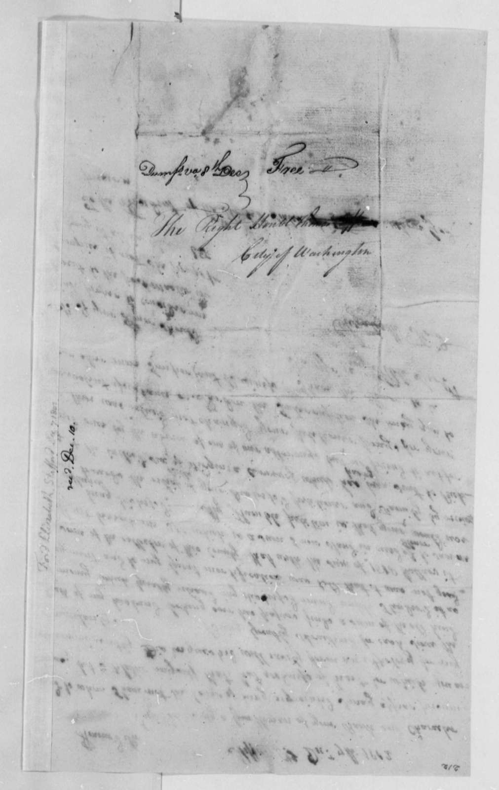 Elizabeth Ford to Thomas Jefferson, December 7, 1802
