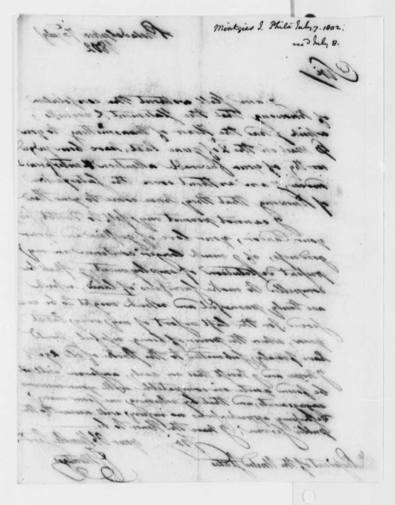 Francis Mentges to Thomas Jefferson, July 7, 1802