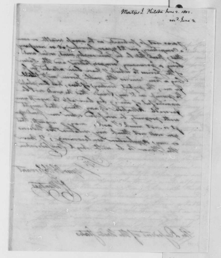 Francis Mentges to Thomas Jefferson, June 2, 1802