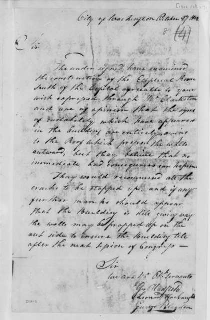 George Hadfield, et al to Thomas Jefferson, October 27, 1802