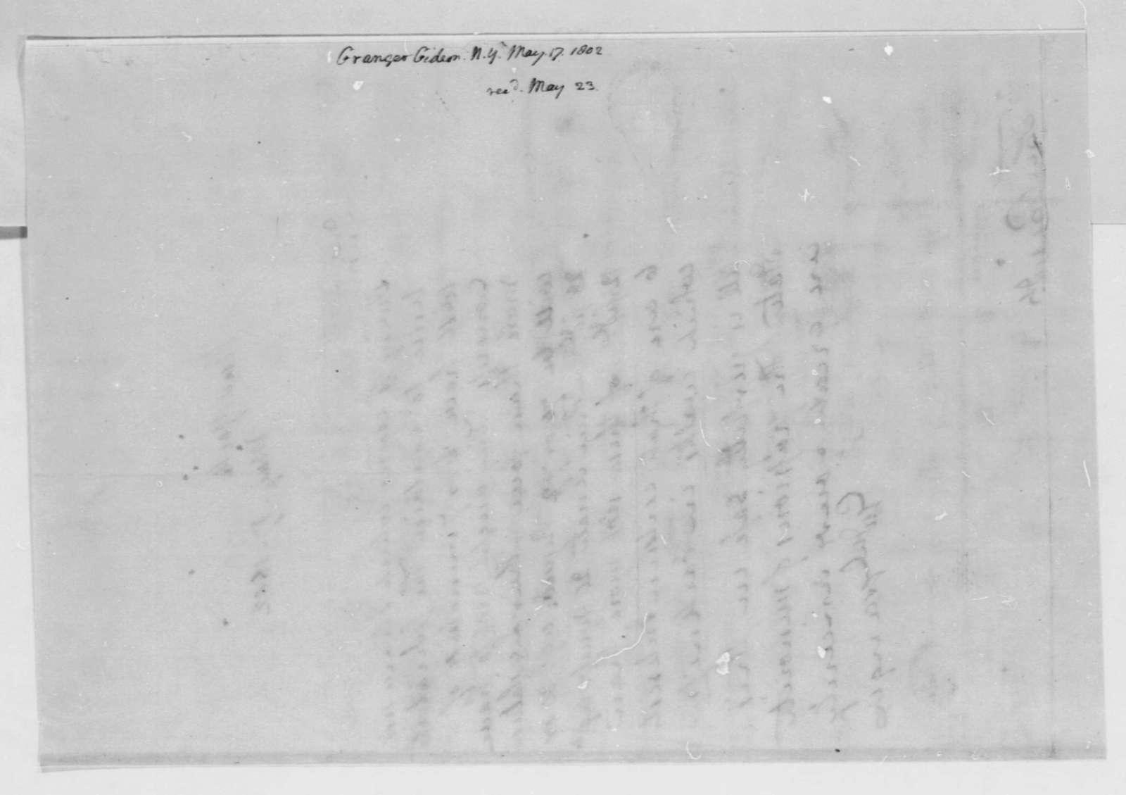 Gideon Granger to Thomas Jefferson, May 17, 1802
