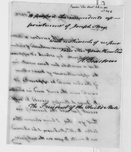 Henry Dearborn to Thomas Jefferson, July 31, 1802