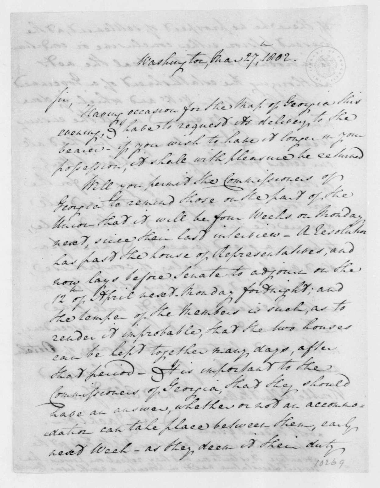 Jackson to Albert Gallatin, March 27, 1802.