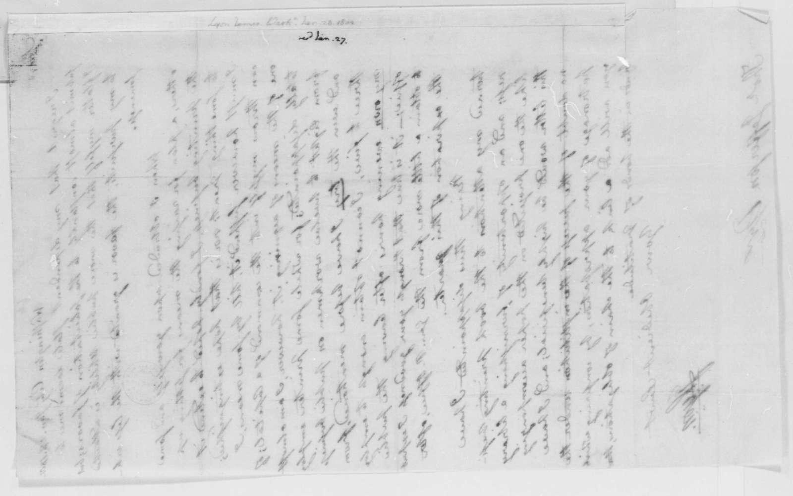 James Lyon to Thomas Jefferson, January 28, 1802