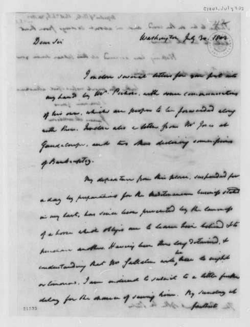 James Madison to Thomas Jefferson, July 30, 1802