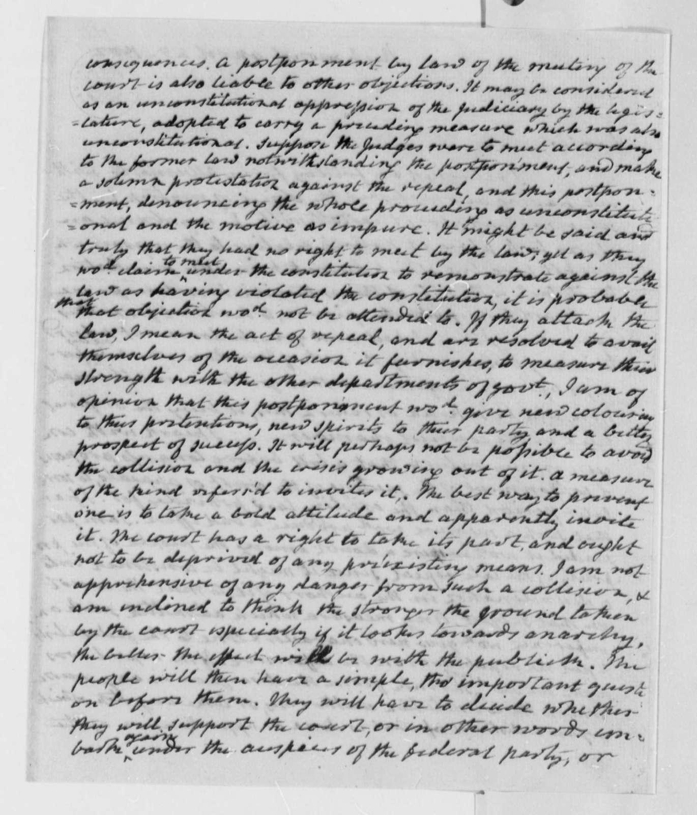 James Monroe to Thomas Jefferson, April 25, 1802