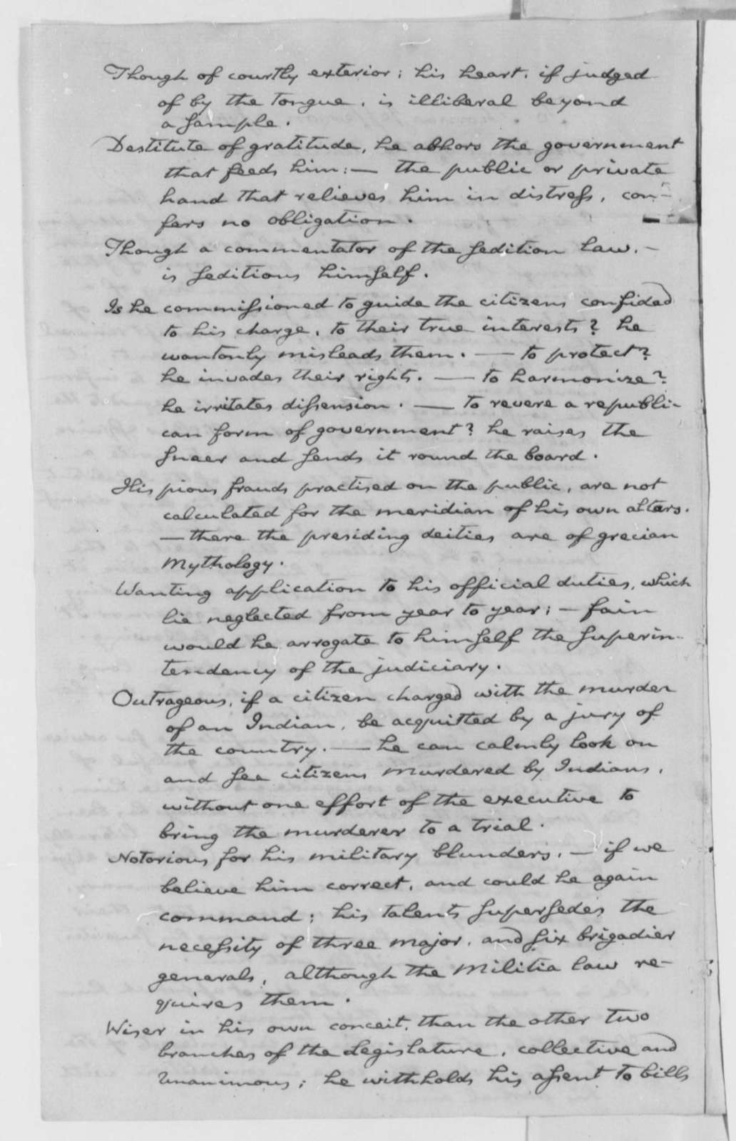 John Cleves Symmes to Thomas Jefferson, January 23, 1802