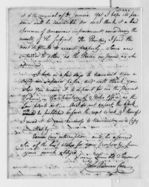 John Redman Coxe to Thomas Jefferson, July 6, 1802