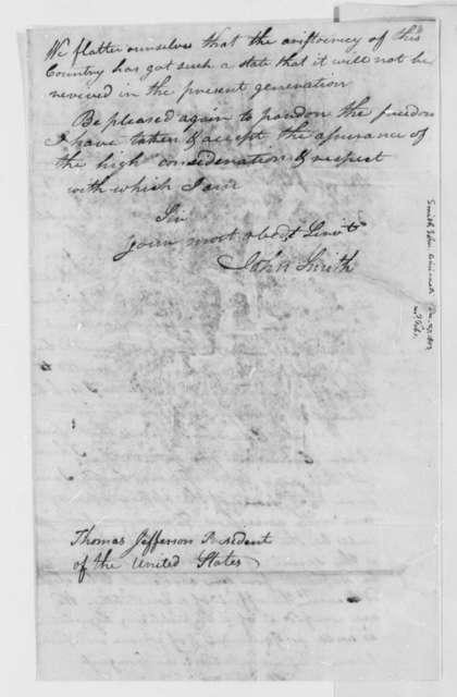 John Smith to Thomas Jefferson, December 27, 1802