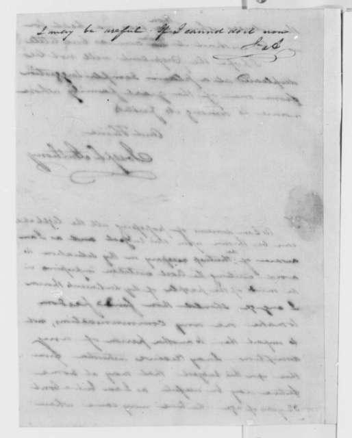 Joseph Anthony to Thomas Jefferson, January 22, 1802