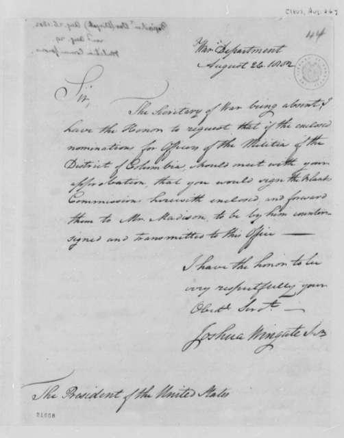 Joshua Wingate, Jr. to Thomas Jefferson, August 26, 1802