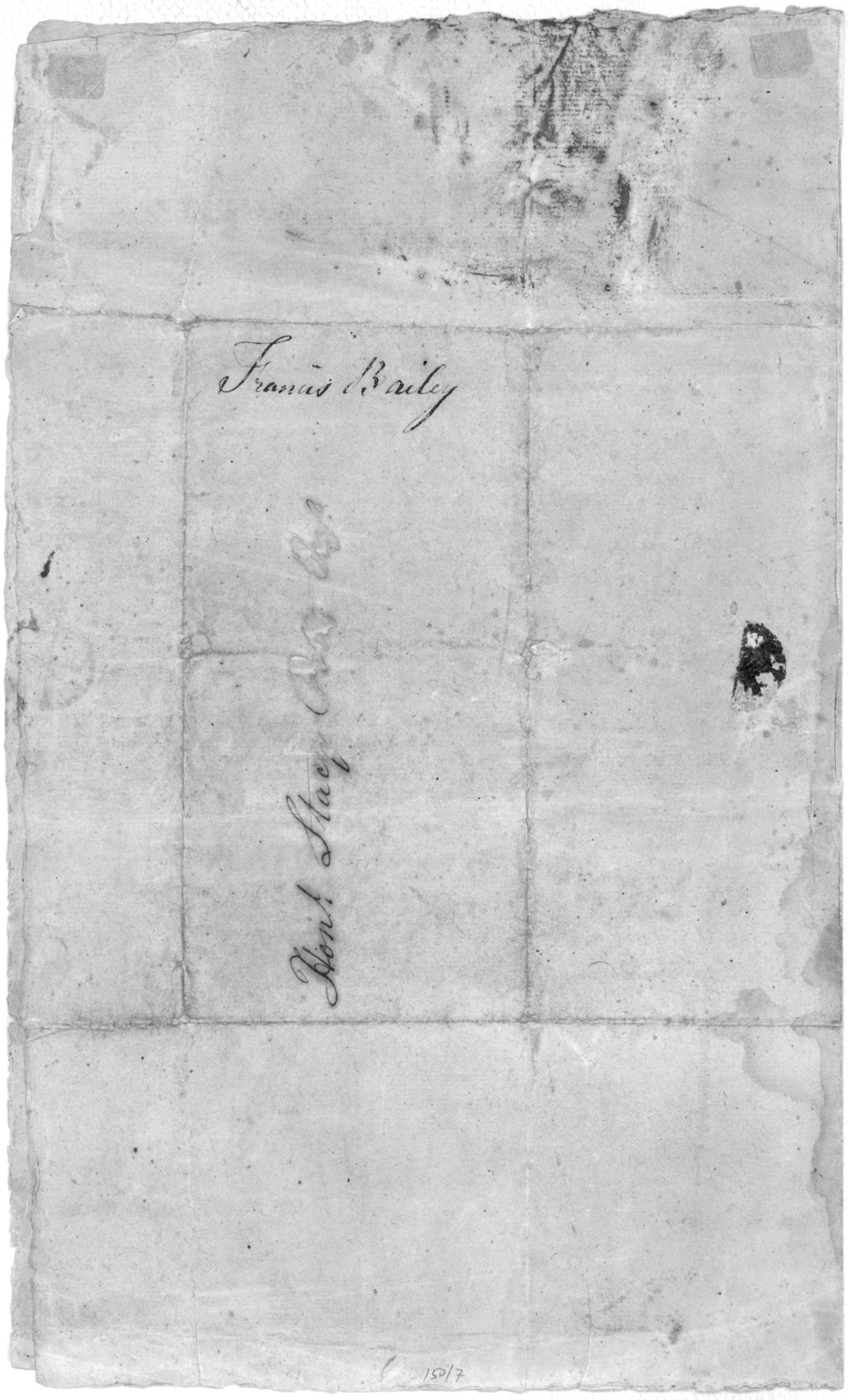 """Lancaster, January 4th, 1802. Honorable Sir. The following is a copy of an anonymous piece, without date, addressed- """"Mr. Francis Bailey, State printer, Lancaster.""""- Delivered by the Sergeant-at-arms of the House of Representatives on the 31st D"""