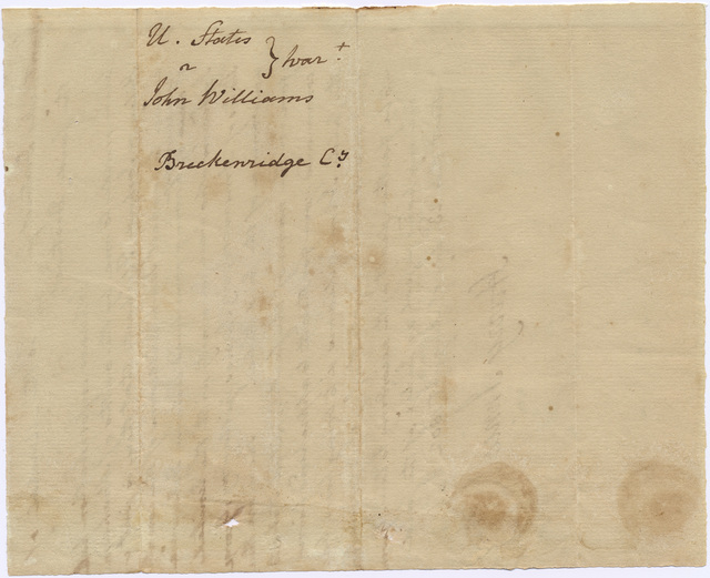 Letter from Harry Innes to the marshal of Kentucky District, Virginia