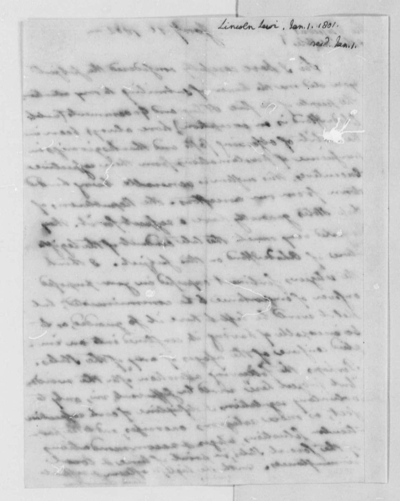 Levi Lincoln to Thomas Jefferson, January 1, 1802