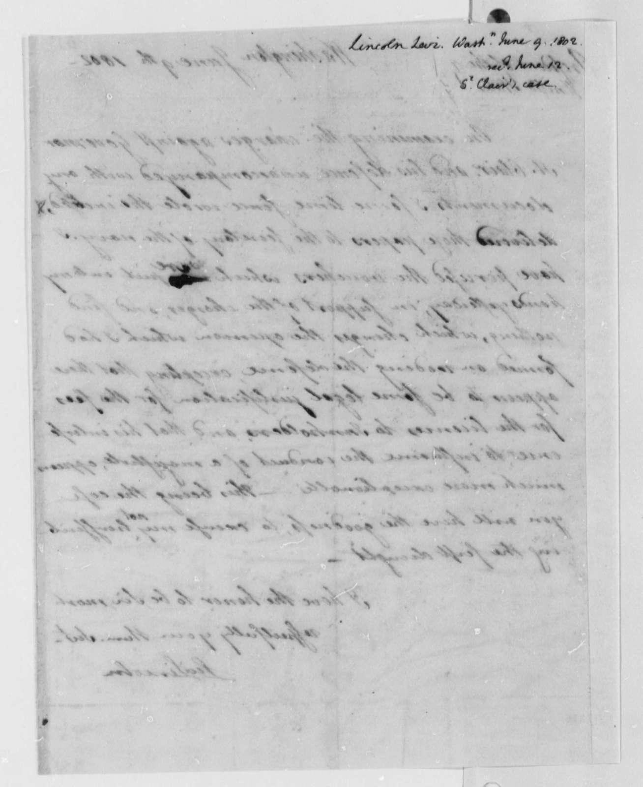 Levi Lincoln to Thomas Jefferson, June 9, 1802