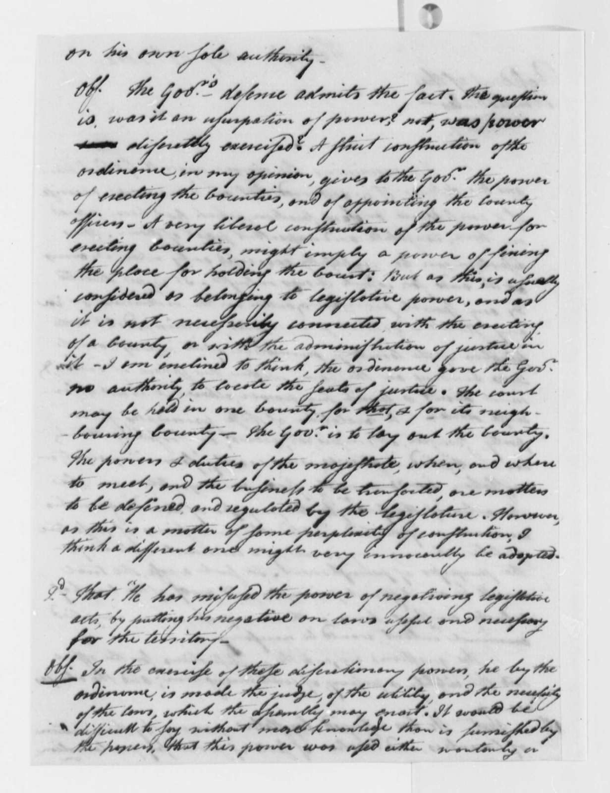 Levi Lincoln to Thomas Jefferson, May 23, 1802