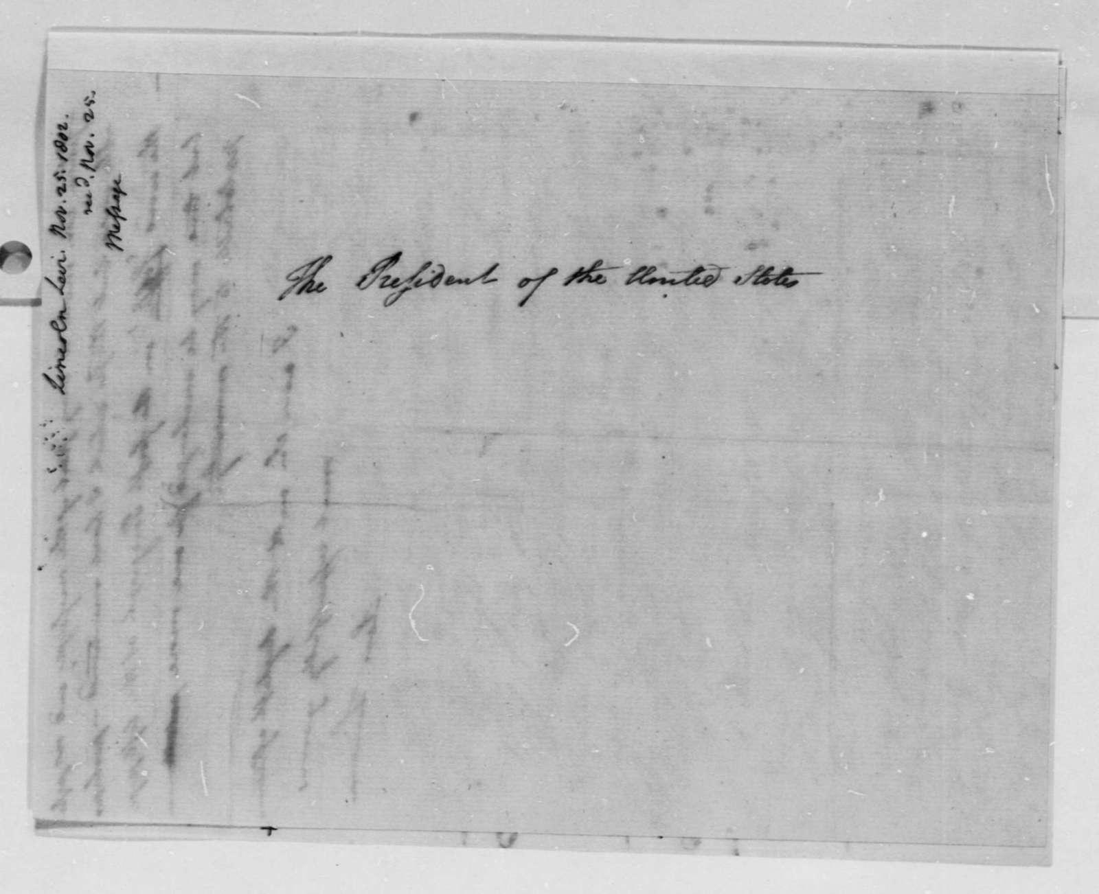 Levi Lincoln to Thomas Jefferson, November 25, 1802