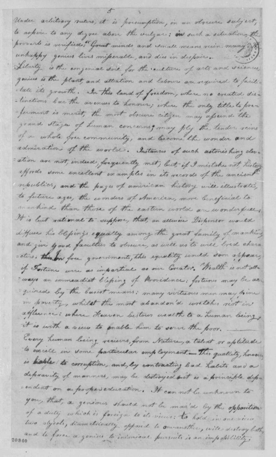 Lewis Mayer to Thomas Jefferson, February 21, 1802