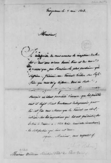 Louis A. Pichon to James Madison, May 7, 1802, in French