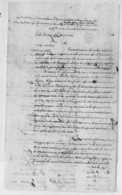 Newburyport, Massachusetts to Thomas Jefferson, August 6, 1802, Petition