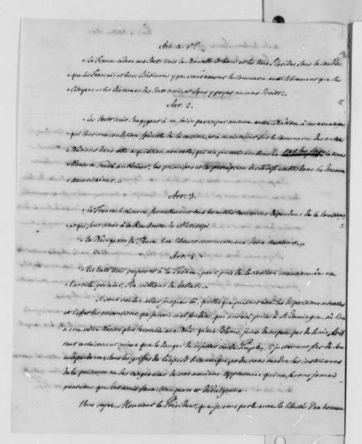 Pierre Samuel Dupont de Nemours to Thomas Jefferson, October 4, 1802, in French