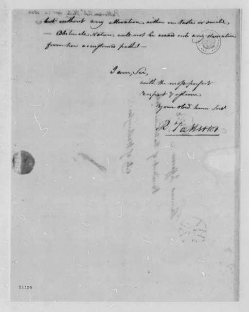 Robert Patterson to Thomas Jefferson, April 24, 1802