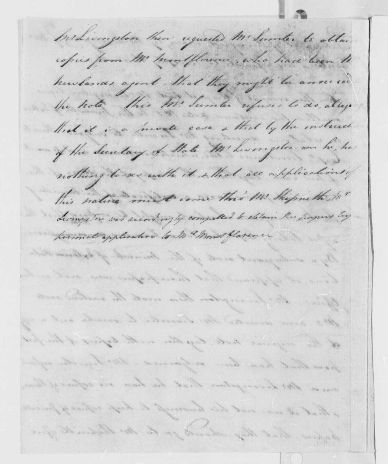 Robert R. Livingston to Thomas Jefferson, October 28, 1802, with Statement