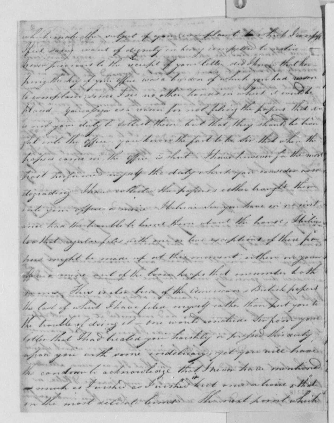 Robert R. Livingston to Thomas Sumter, Jr., April 27, 1802