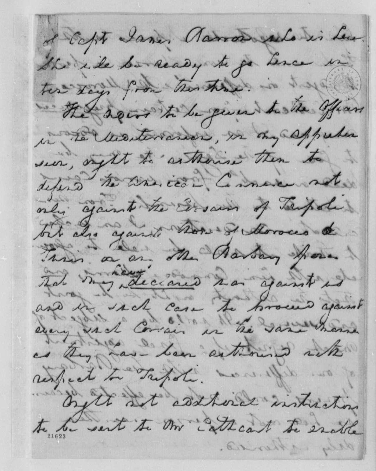 Robert Smith to Thomas Jefferson, August 16, 1802
