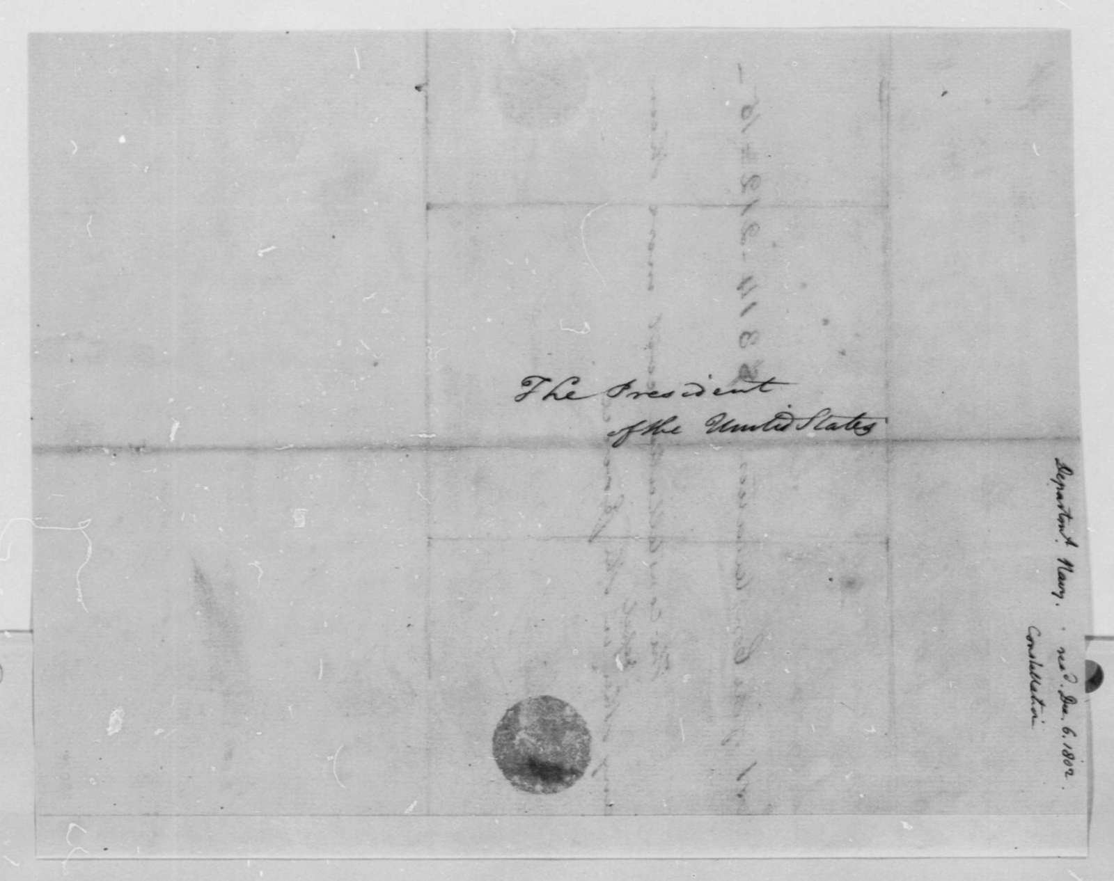 Robert Smith to Thomas Jefferson, December 6, 1802, Cost of Constellation