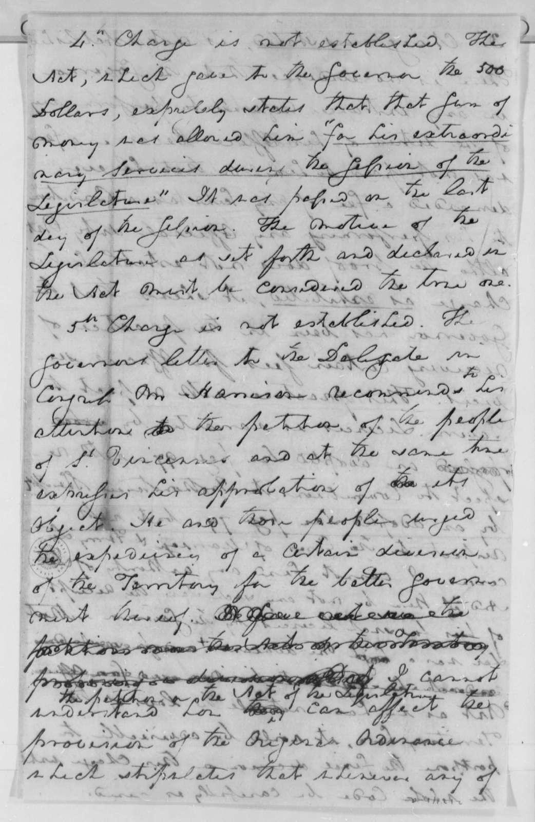 Robert Smith to Thomas Jefferson, June 15, 1802
