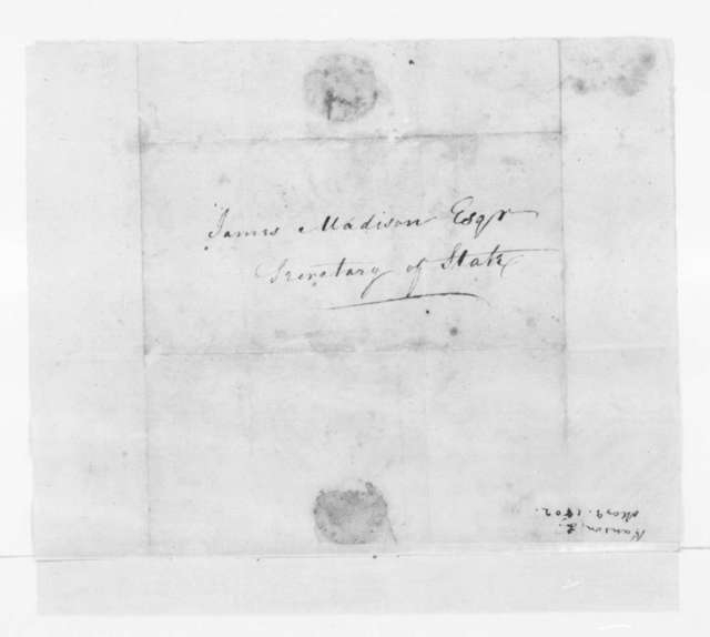 Samuel Hanson of Samuel to James Madison, May 9, 1802.