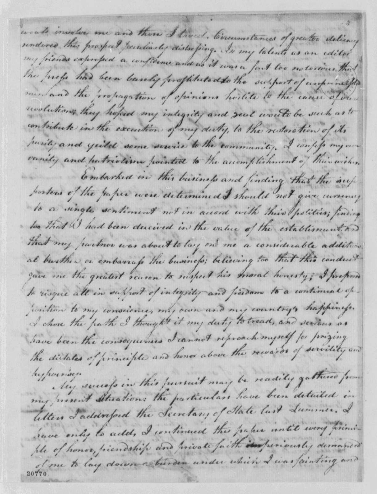 Samuel Morse to Thomas Jefferson, February 4, 1802