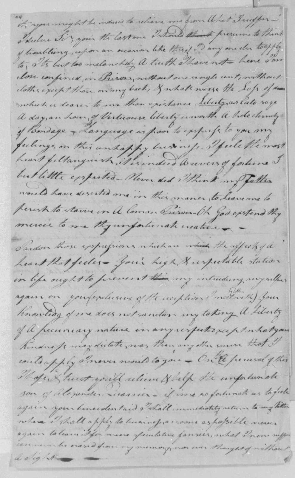 Samuel Quarrier to Thomas Jefferson, February 10, 1802
