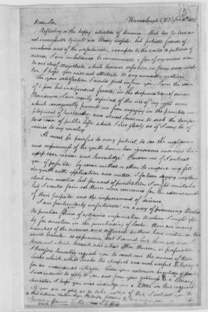 Samuel R. Demaree to Thomas Jefferson, January 6, 1802