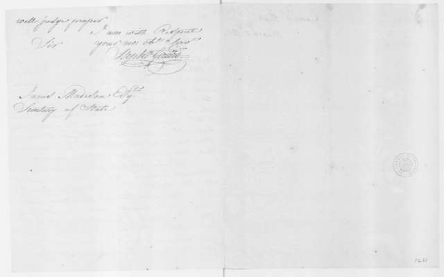 Stephen Girard to James Madison, March 11, 1802.