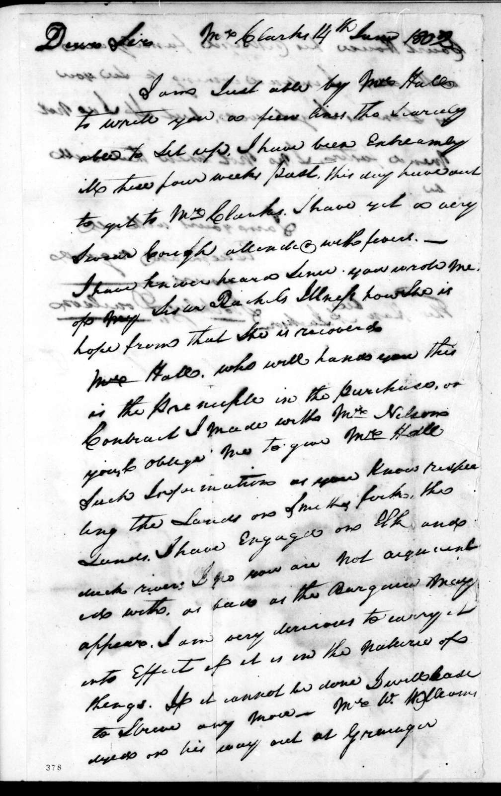 Stockley Donelson to Andrew Jackson, June 14, 1802