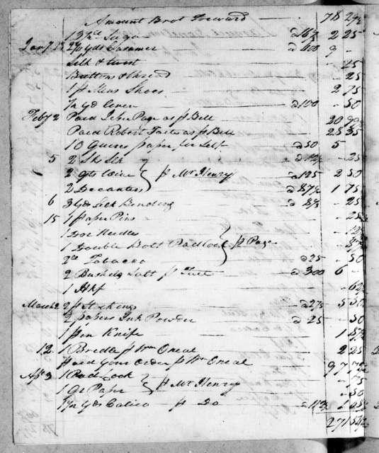 Stothart & Bell to Samuel Donelson, April 4, 1802