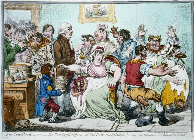 The cow-pock - or - the wonderful effects of the new inoculation / Js. Gillray, del. & ft.