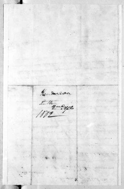 Thomas Henderson to Andrew Jackson, April 2, 1802
