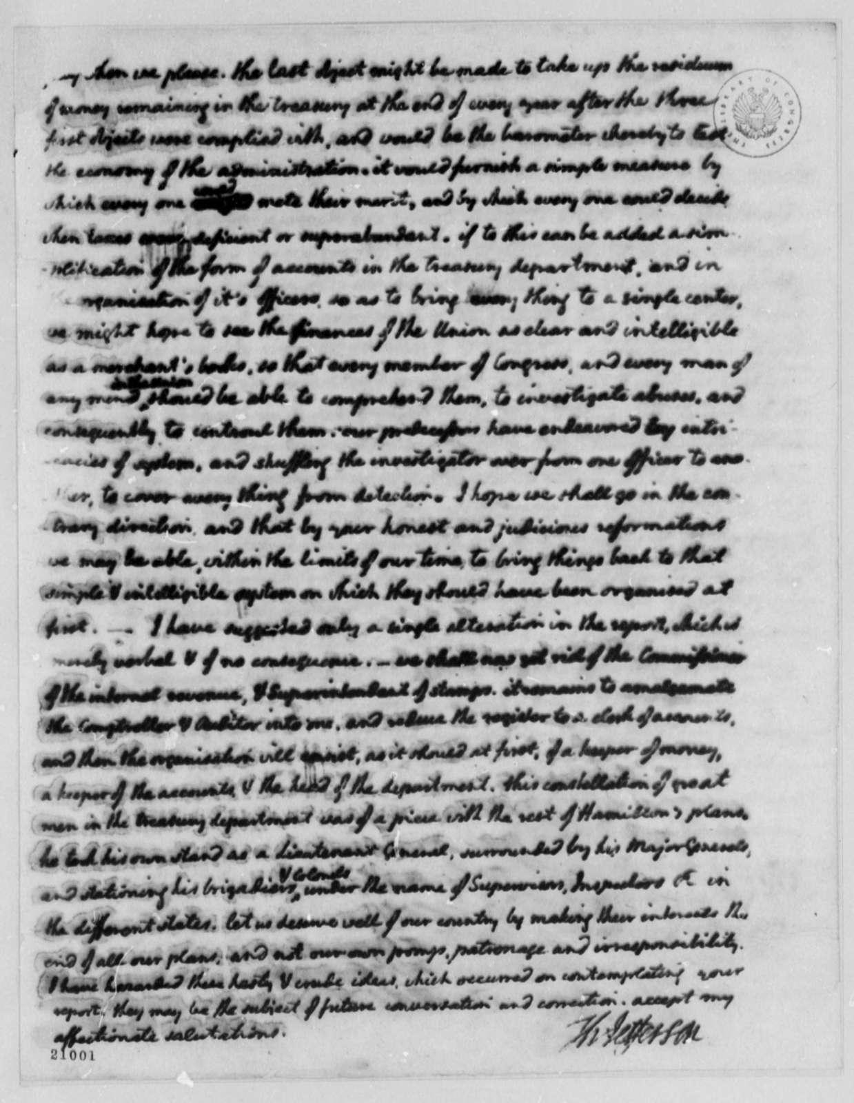 Thomas Jefferson to Albert Gallatin, April 1, 1802