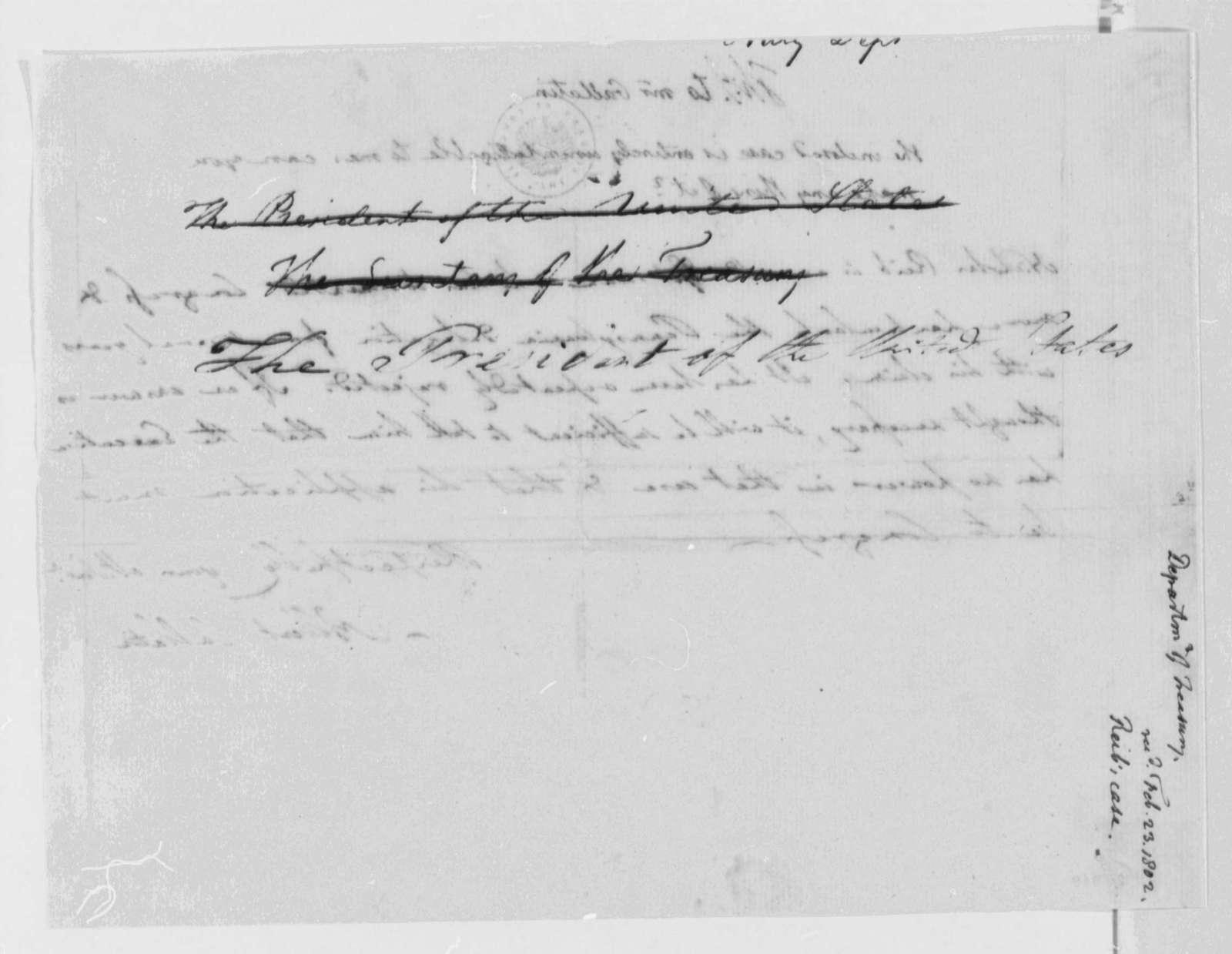 Thomas Jefferson to Albert Gallatin, February 23, 1802