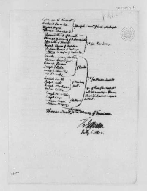 Thomas Jefferson to Albert Gallatin, July 6, 1802